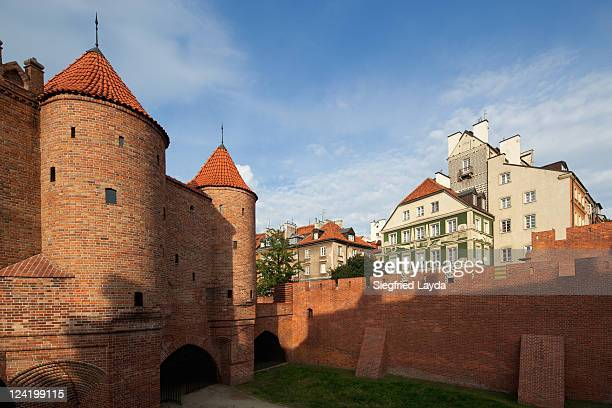 warsaw, barbican - warsaw stock pictures, royalty-free photos & images