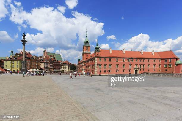 Warsaw - castle square and old town (Warsaw/ Poland)