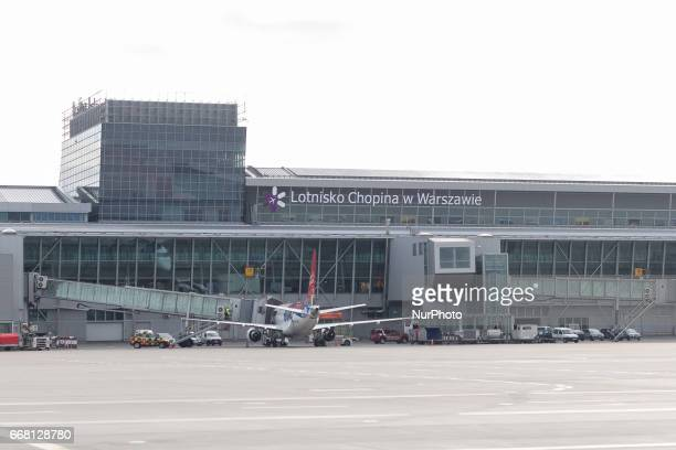 Warsaw Chopin Airport in Warsaw Poland on 11 April 2017