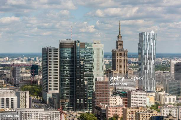 Warsaw city downtown