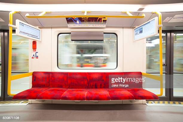 warsaw metro system, newly opened - jake warga stock pictures, royalty-free photos & images