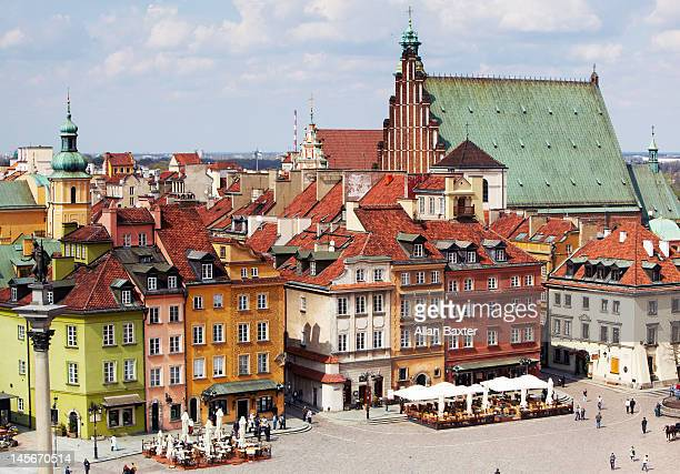 warsaw old town - poland stock pictures, royalty-free photos & images