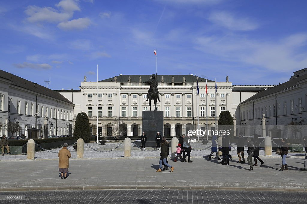Warsaw Palace of the President : Stock Photo