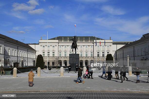 warsaw palace of the president - pejft stock pictures, royalty-free photos & images