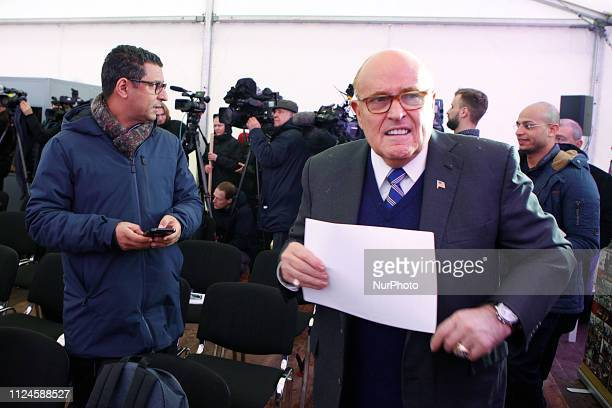 Warsaw Poland A press briefing held prior to the rally of the Iranian community in Europe on the prospects for establishing a sustainable and lasting...
