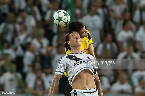 Warsaw Poland UEFA Champions League 2016/17 Season Group F Matchday 1 Legia Warschau BV Borussia Dortmund Sokratis gegen Aleksandar Prijovic