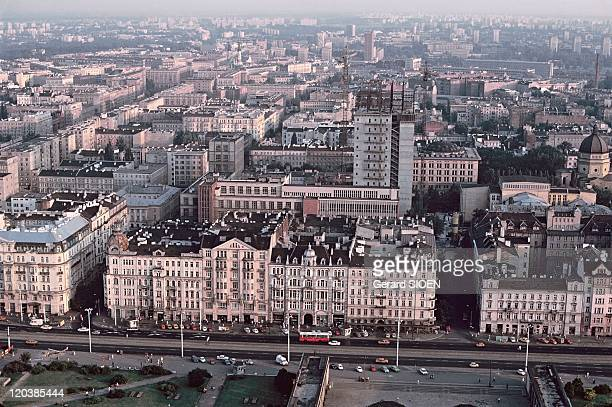Warsaw Poland in 1985 Buildings