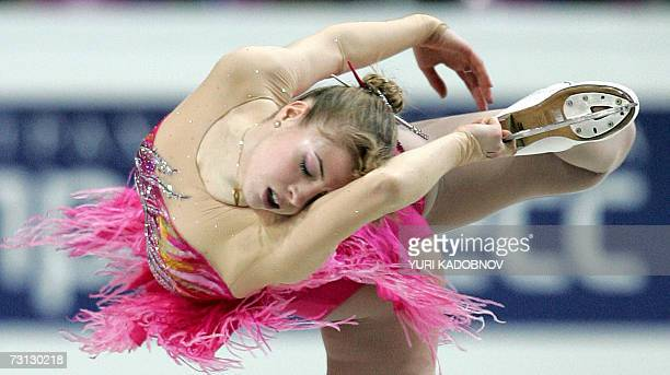 Italian Carolina Kostner performs her free skating for the first place at the European Figure Skating Championships in Warsaw, 27 January 2007. AFP...