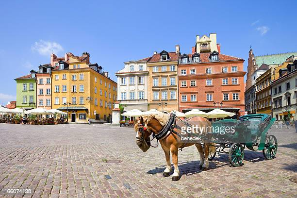 warsaw, poland - castle square stock pictures, royalty-free photos & images