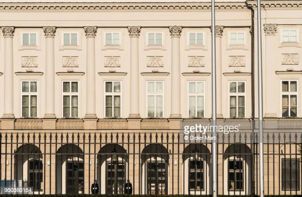 warsaw presidential palace in poland - didier marti stock photos and pictures