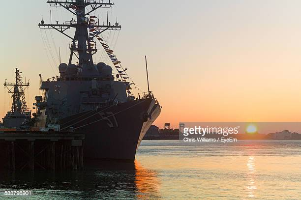warship in dock - military ship stock pictures, royalty-free photos & images