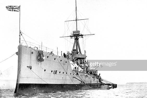 WWI Warship Royal navy HMS Dreadnought The protective Crinoline HMS Dreadnought getting out torpedo nets HMS Dreadnought was a battleship of the...