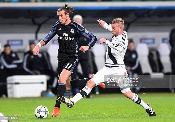 Warszawa Pilka nozna Liga Mistrzow sezon 2016/2017 Legia Warszawa Real Madryt N/z Gareth Bale Thibault Moulin Foto Lukasz Laskowski / PressFocus...