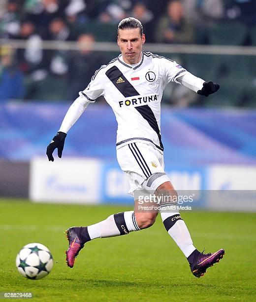 Warszawa Warsaw'nPilka nozna UEFA Liga Mistrzow Sezon 2016/2017'nLegia Warszawa Sporting Lizbona'nN/z Aleksandar Prijovic'nFoto Norbert Barczyk /...