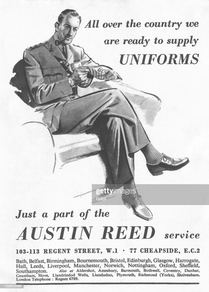 A Wartime Advertisement For Austin Reed Tailoring Services Stating News Photo Getty Images