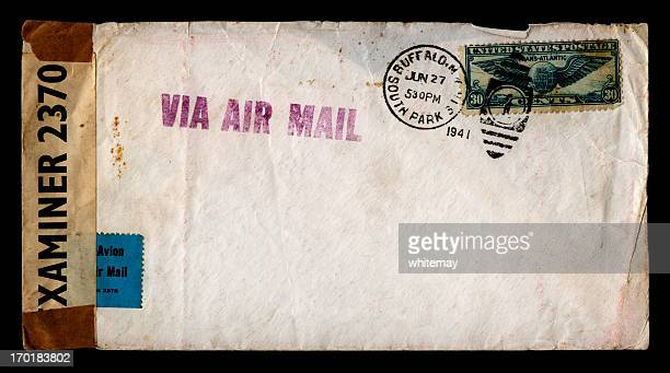 wartime envelope - postmark stock pictures, royalty-free photos & images
