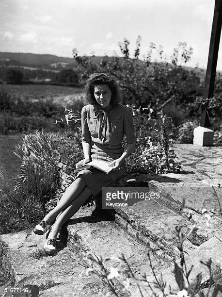 Wartime heroine of the French resistance Odette Churchill at home in Hampshire 15th February 1947
