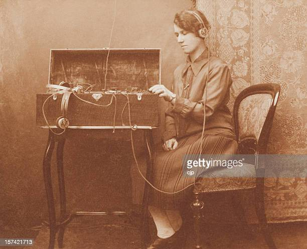 wartime morse code communications - roaring 20s stock photos and pictures