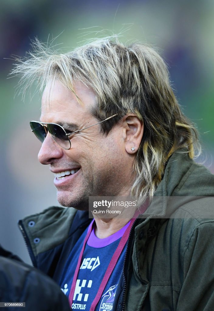 Warwick Capper watches on from the sidelines during the round 14 NRL match between the Melbourne Storm and the Brisbane Broncos at AAMI Park on June 10, 2018 in Melbourne, Australia.
