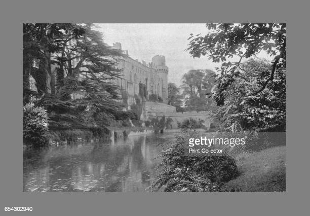 Warwick Castle c1900 A medieval castle developed from an original built by William the Conqueror in 1068 situated on a bend of the River Avon From...