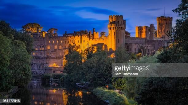warwick castle in warwick, england. - warwick castle bildbanksfoton och bilder