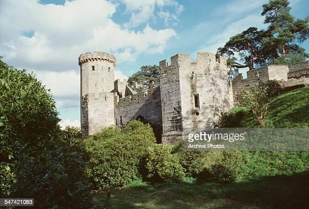 Warwick Castle in Warwick Warwickshire England 1975