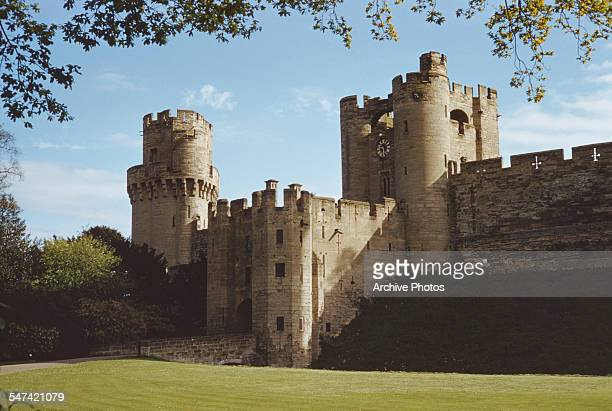 Warwick Castle in Warwick Warwickshire England circa 1965