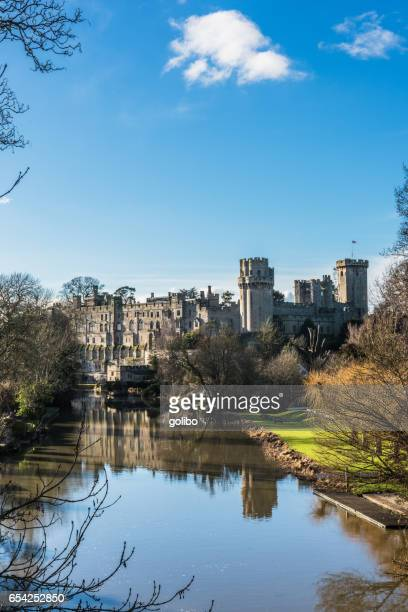 warwick castle in warwickshire in england, uk - warwick uk stock photos and pictures