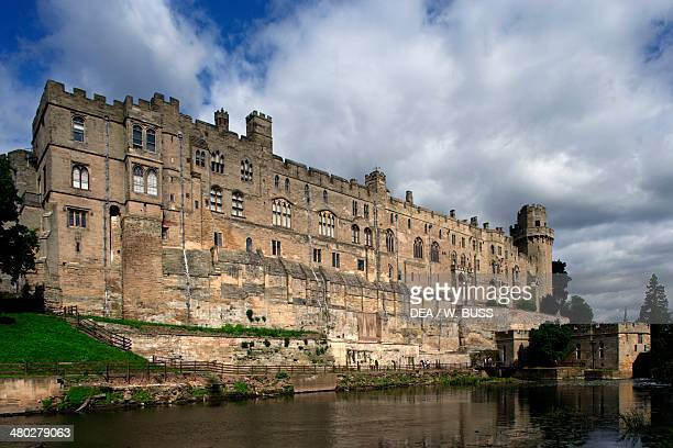 Warwick castle on the Avon river Warwickshire United Kingdom