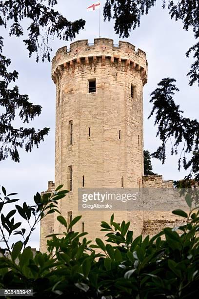 warwick castle tower, warwick, warwickshire, england, uk. - warwick castle bildbanksfoton och bilder