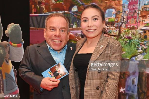 """Warwick Davis and daughter Annabelle Davis attend the red carpet premiere of new animated children's series """"Moley"""" at Odeon Luxe Leicester Square on..."""