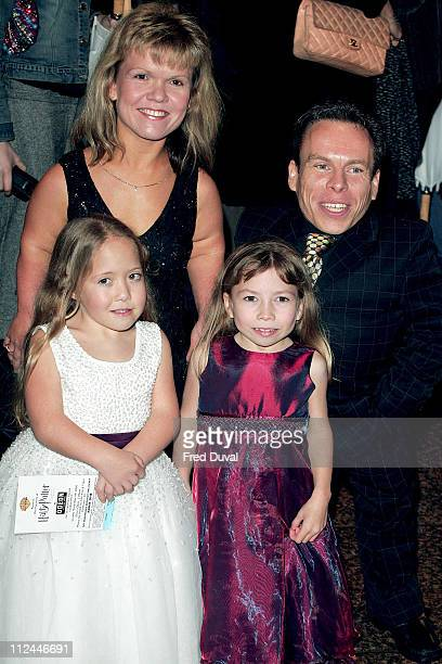 Warwick Davis and family during Harry Potter and the Goblet of Fire World Premiere Arrivals at Odeon Leicester Square in London United Kingdom