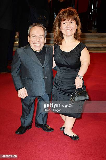 Warwick Davis and Samantha Davis attend the ITV Gala at London Palladium on November 19 2015 in London England