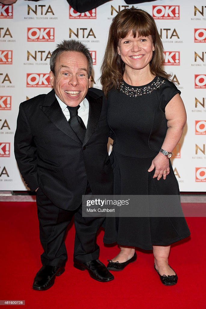 Warwick Davis and Samantha Davis attend the National Television Awards at 02 Arena on January 21, 2015 in London, England.