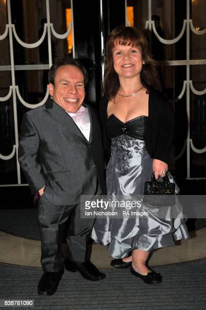 Warwick Davis and wife Samantha arrive for the Radio Times Covers Party at Claridges Hotel London