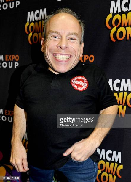Warwick Davis attends MCM Comic Con at Manchester Central on July 30 2017 in Manchester England