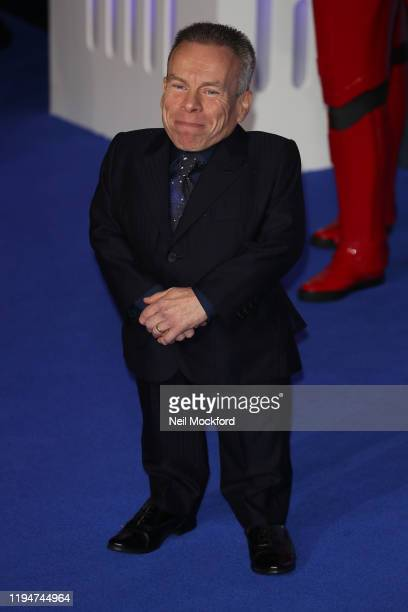 Warwick Davis attends Star Wars The Rise of Skywalker European Premiere at Cineworld Leicester Square on December 18 2019 in London England