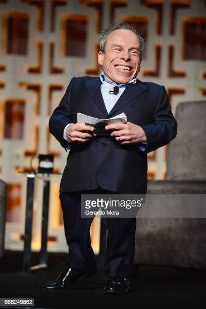 Warwick Davis attends the 40 Years of Star Wars panel during the 2017 Star Wars Celebrationat Orange County Convention Center on April 13 2017 in...