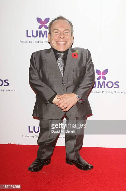 Warwick Davis attends the Lumos fundraising event hosted by JK Rowling at The Warner Bros Harry Potter Tour on November 9 2013 in London England