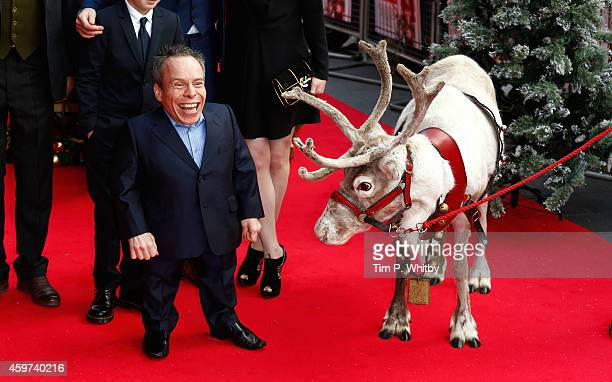 Warwick Davis attends the UK Premiere of Get Santa at Vue West End on November 30 2014 in London England