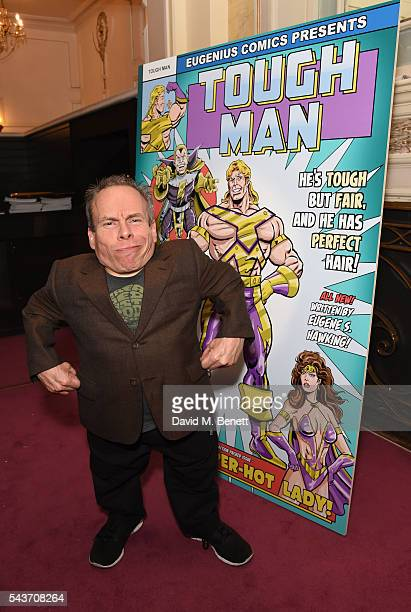 Warwick Davis attends the world premiere concert performance of Eugenius at The London Palladium on June 29 2016 in London England