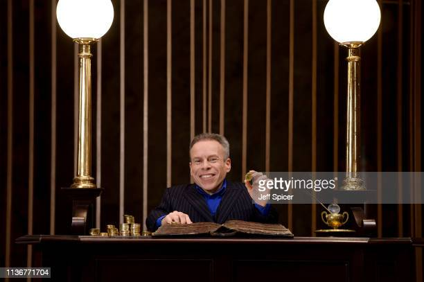 Warwick Davis in the original Gringotts Wizarding Bank set at Warner Bros Studio Tour London on March 19 2019 in Watford England Warner Bros Studio...
