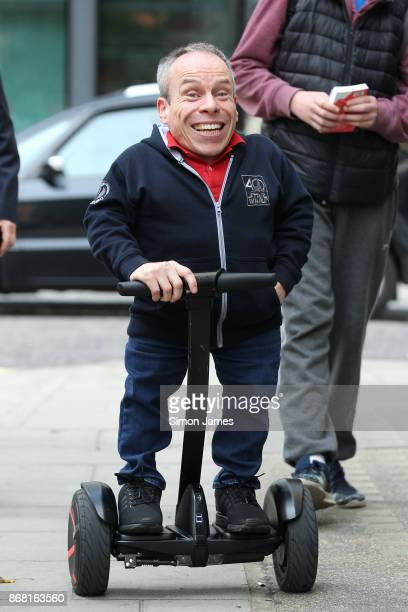 Warwick Davis seen at the BBC on October 30 2017 in London England