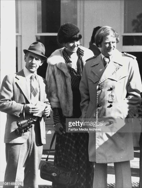 Warwick Farm RacesJohn Campbell with trainer Theo GreenTrainer Theo Green and John Campbell with the former Mrs Harriet Pace at Warwick Farm...