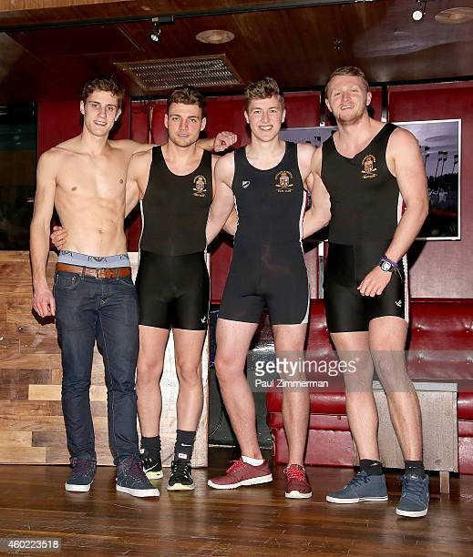Warwick Rowers Matthew Dabell Oliver Greene Laurence Hulse and Thomas Robinson attend The Warwick Rowers 2015 Movie Premiere and Calendar Launch...