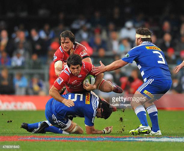 Warwick Tecklenburg of the Lions during the Super Rugby match between DHL Stormers and Emirates Lions at DHL Newlands Stadium on June 06 2015 in Cape...