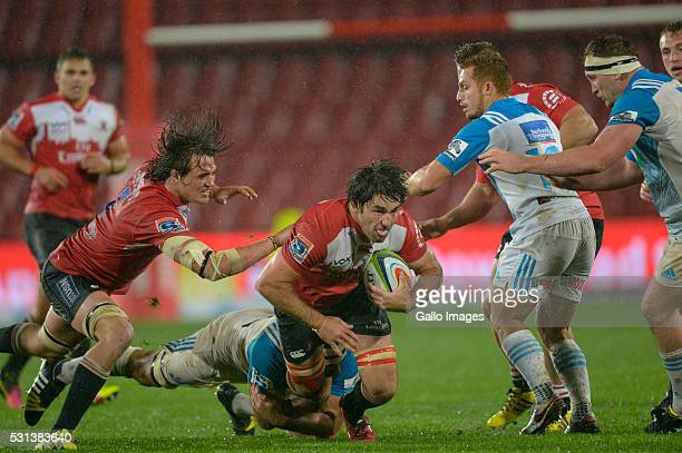 Warwick Tecklenburg of the Lions during the Super Rugby match between Emirates Lions and Blues at Emirates Airline Park on May 14 2016 in...