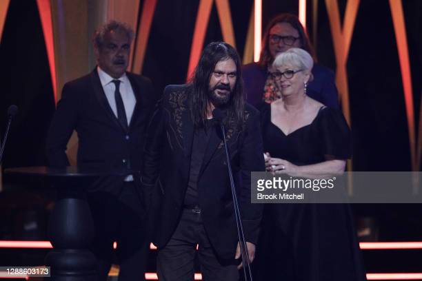 Warwick Thornton accepts the AACTA Award for Best Drama Series during the 2020 AACTA Awards presented by Foxtel at The Star on November 30, 2020 in...