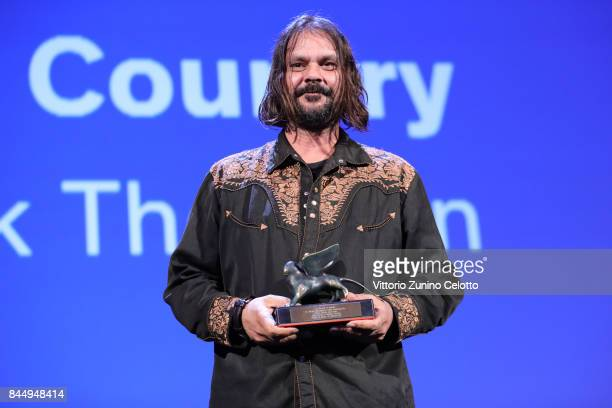 Warwick Thornton receives the Special Jury Prize Award for 'Sweet Country' during the Award Ceremony of the 74th Venice Film Festival at Sala Grande...