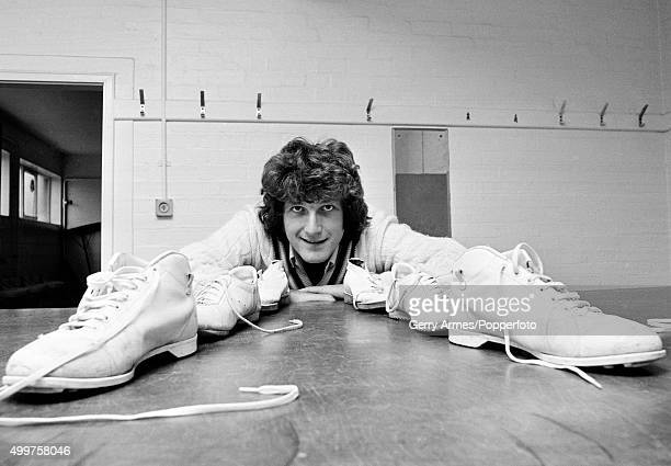 Warwickshire and England fast bowler Bob Willis getting his boots ready for England's tour of India 16th November 1976